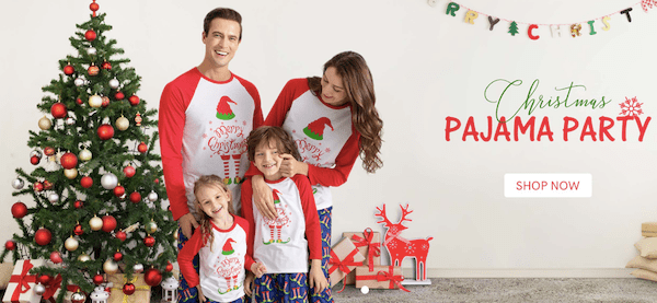 Family Matching Christmas Pajama Party