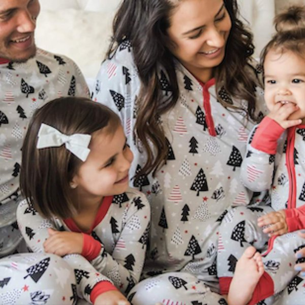 Family Matching Christmas Tree Pajamas