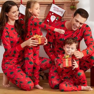 Family Matching Dinosaur Christmas Pajamas