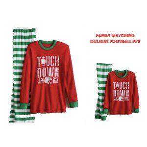 Family-Matching-Holiday. Football-Pajamas-