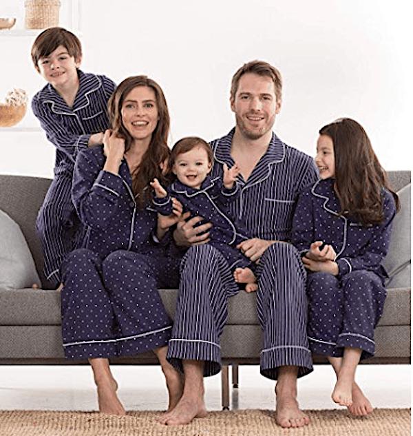 Family Matching Navy Holiday Pajamas