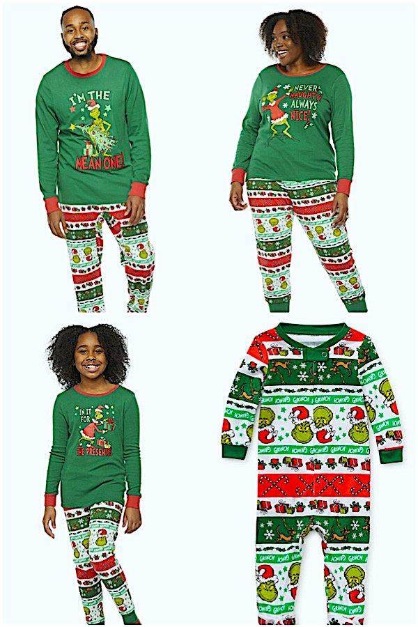 Grinch Family Christmas Matching Pajamas