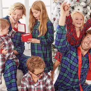 Matching Plaid Family Holiday Pajamas