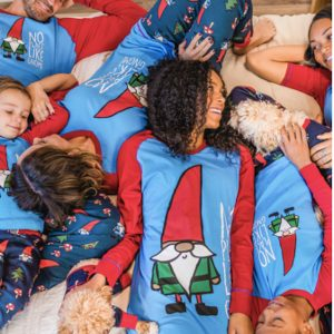 No Place Like Gnome Family Matching Christmas Pajamas