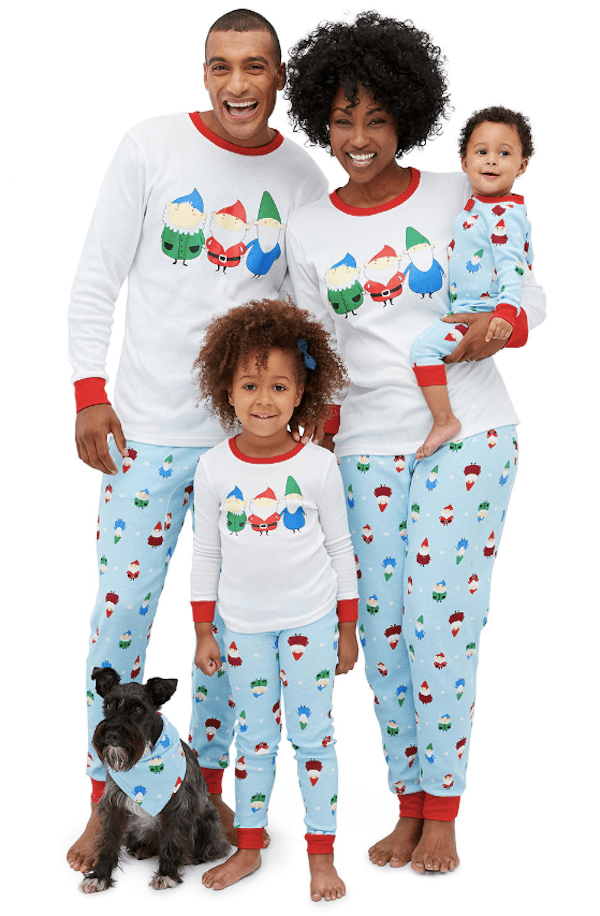 Secret Santa Gnomes Family Pajamas