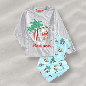 Family Matching Tropical Santa Holiday Pajamas