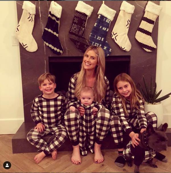 Christina Anstead & Kids Christmas PJs 2019