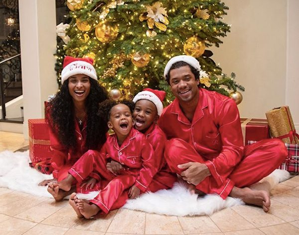 Ciara and Russell Wilson Celebrate with Kids in Matching Family Pajamas
