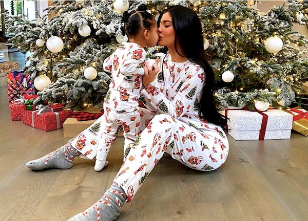 Kylie Jenner and Stormi in Matching Jammies Christmas 2019