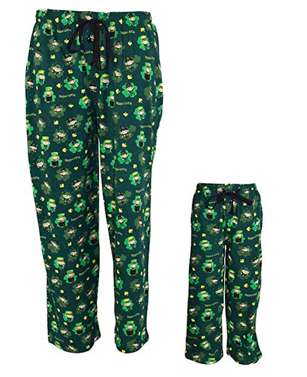 St Patrick's Day Leprechaun Matching Family Pajama Pants