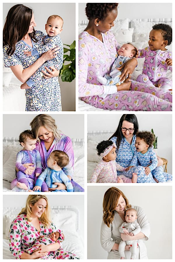 Mommy and Infant Bamboo Viscose Sleepwear