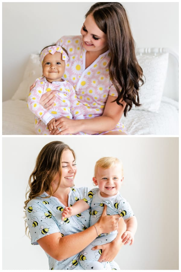 Mommy and Me Matching Bamboo Viscose Summer Pajamas