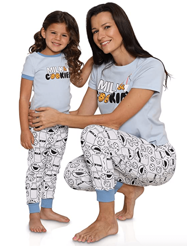 Sesame Street Cookie Monster Mommy and Me Pajamas