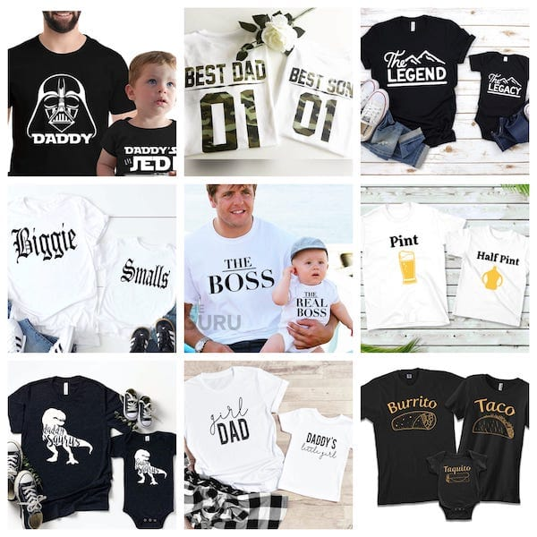 Daddy and Me Matching Tees Fathers Day Gift Ideas