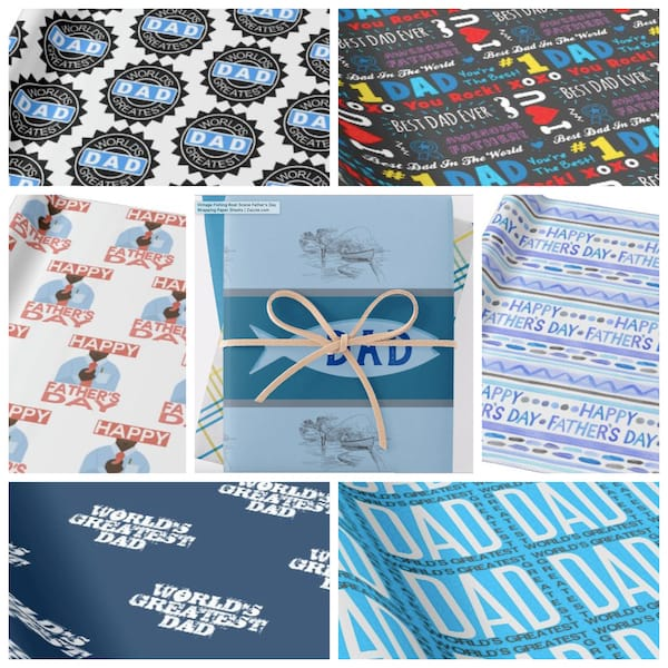Fathers Day Wrapping Paper