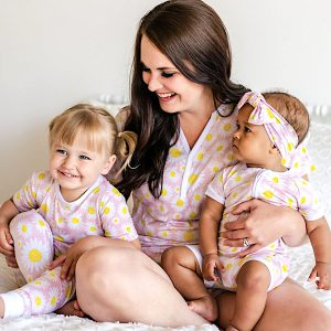Mother Daughter Daisies Bamboo Summer Shorties Viscose Pajamas