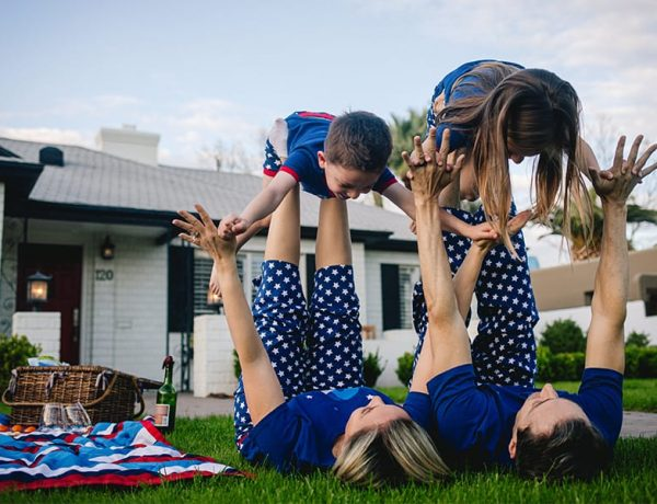 Red, White and Blue Family PJs