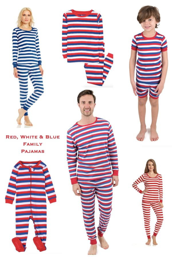 Red White and Blue Matching Family Pajamas