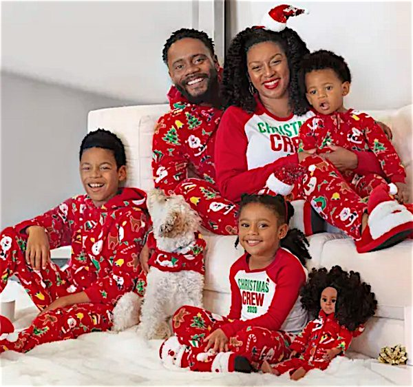 Christmas Crew 2020 Matching Family Plush Patterned Pajamas