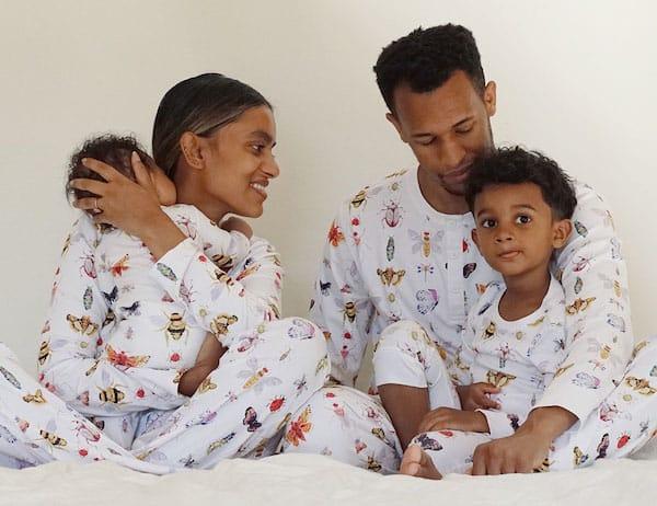 Family Matching Bugs Print Cotton Pajamas