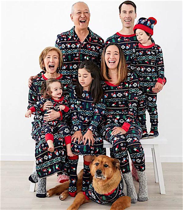 Gnome Sweet Gnome Organic Cotton Holiday Family Matching Pajamas
