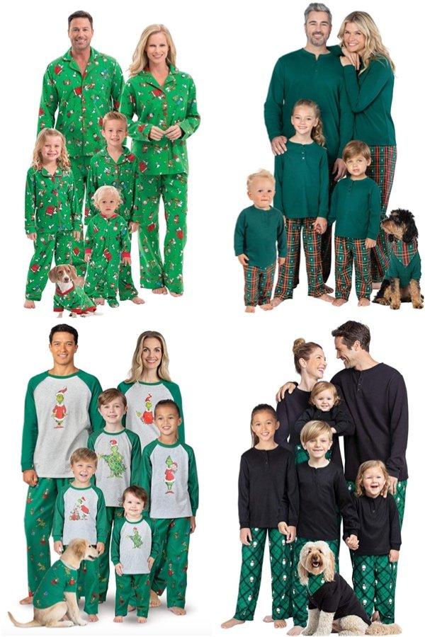 Green Pajamgrams Family Matching