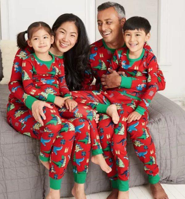 Holiday Dinosaur Christmas Tree Playful Holiday Family Matching Pajamas