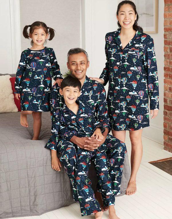 Holiday Hot Air Balloon Family Matching Pajamas