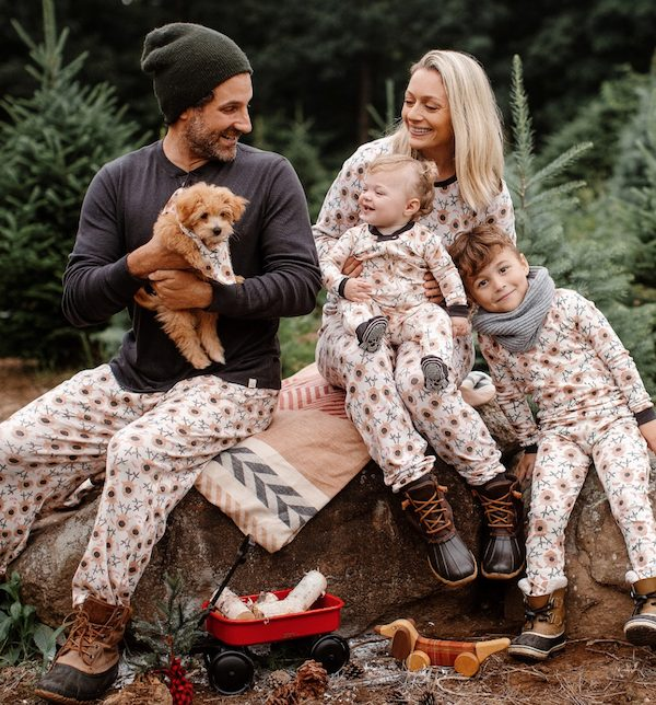 Holiday Matching Pajamas Reindeer Organic Cotton