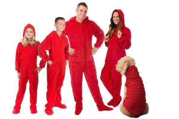 Hoodie Red Christmas Onesies