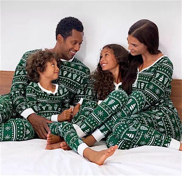 Jammies For Your Families Green Holiday Fairisle Pajamas