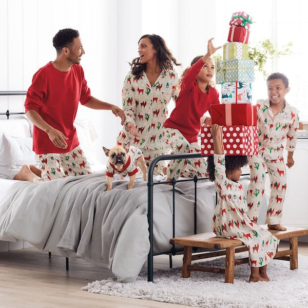Llama Holiday Flannel Family Pajamas