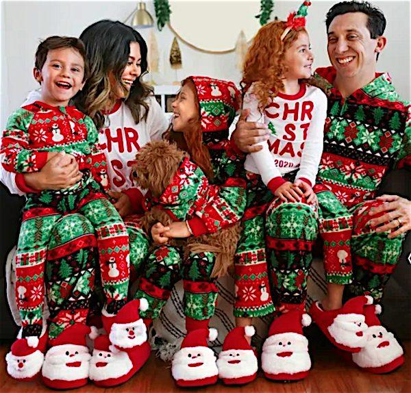 Matching Family Christmas Fairisle Cotton And Fleece Pajamas