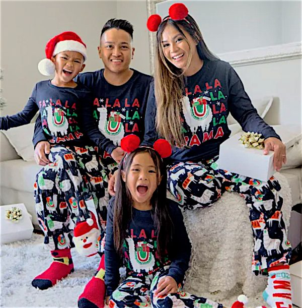 Matching Family Pajamas - Festive Llama Collection
