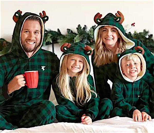 Matching Family Pajamas - Moose Buffalo Hunter Green Plaid Collection