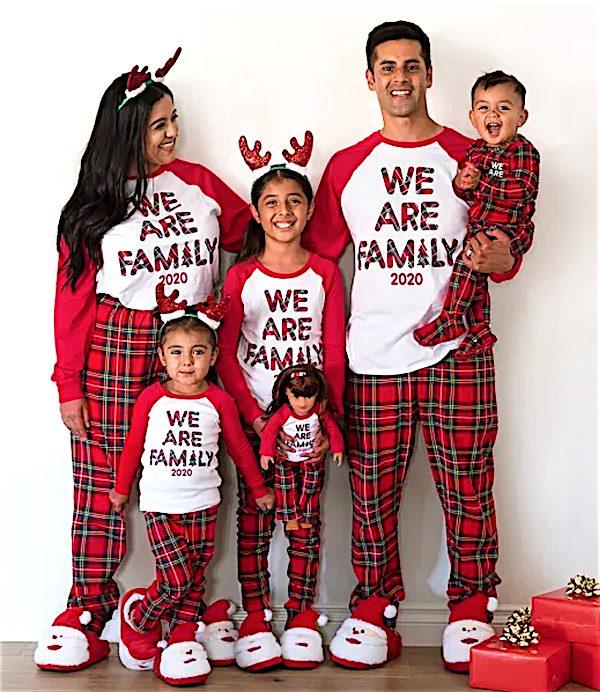 Matching We Are Family Tartan Plaid Family Pajamas 2020