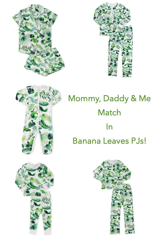 Mommy, Daddy & Me Match In Banana Leaves PJs