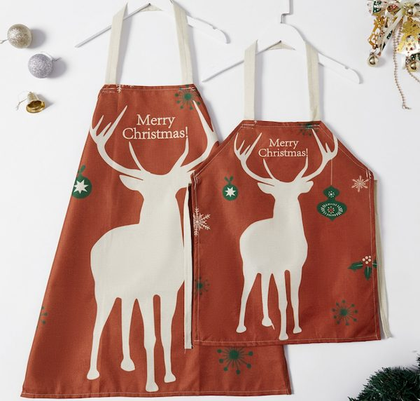 Mommy and Me Christmas Pattern Print Aprons