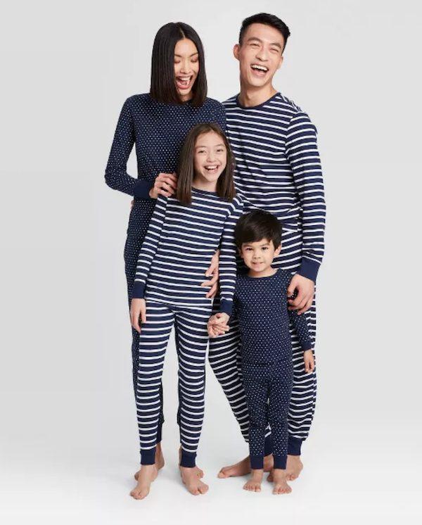 Navy Striped Pajama Set