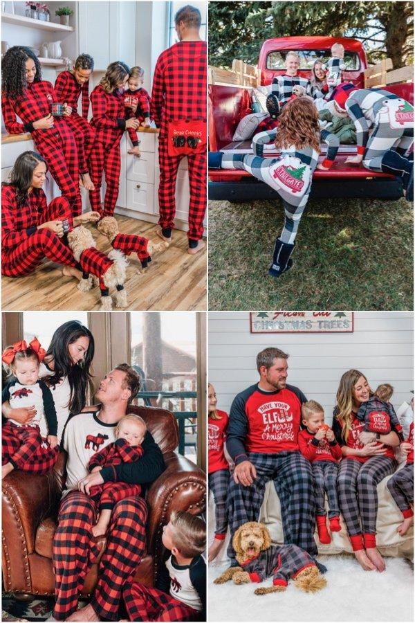Plaid Matching Family Pajamas Lazy Oaf