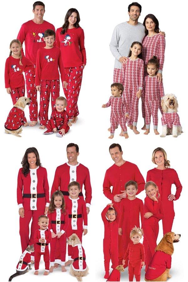 Red Pajamagram Holiday Matching PJs