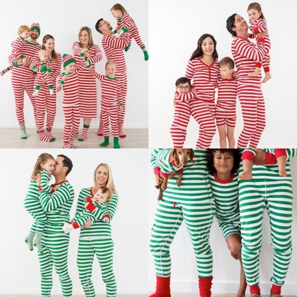 Striped Holiday Family Pajamas