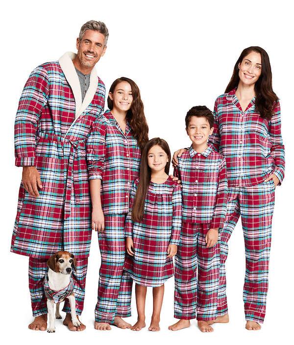Winter Flannel Family Holiday Plaid Pajamas