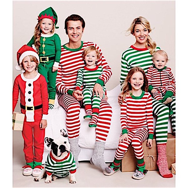 Mix + Match Red Green Stripe Organic Cotton Family Matching Pajamas Hanna Andersson