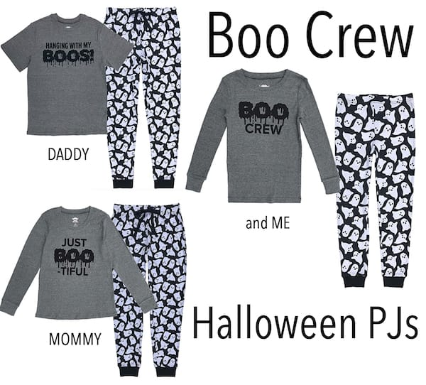 Mommy Daddy and Me Boo Crew Halloween Pajamas