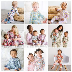 Mommy and Me Super Soft and Silky Bbamboo Viscose Pajamas