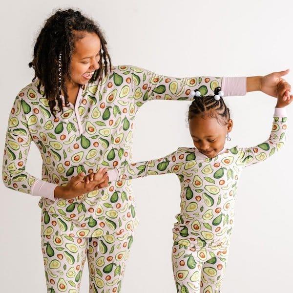 Mother Daughter Cozy Silky Soft Avocado Bamboo Viscose Pajamas