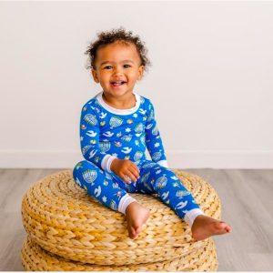 Babies and Kids Slky Soft and Cozy Bamboo Viscose Hanukkah Pajamas