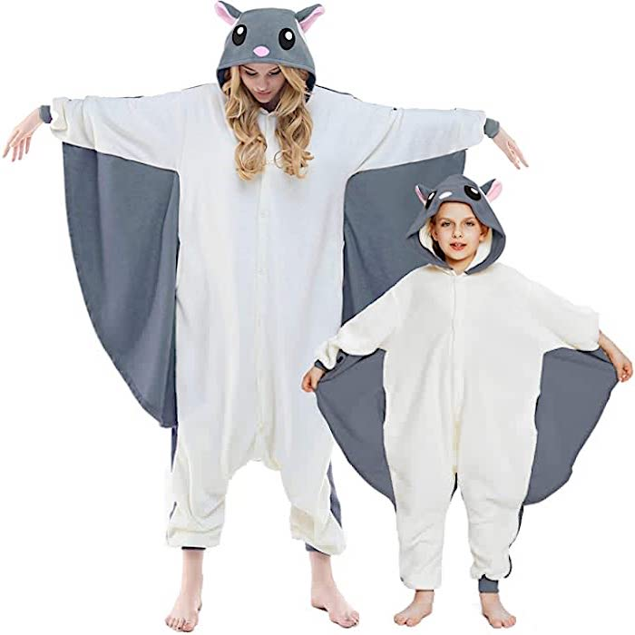 Family Matching Flying Squirrel Halloween Onesie Pajamas