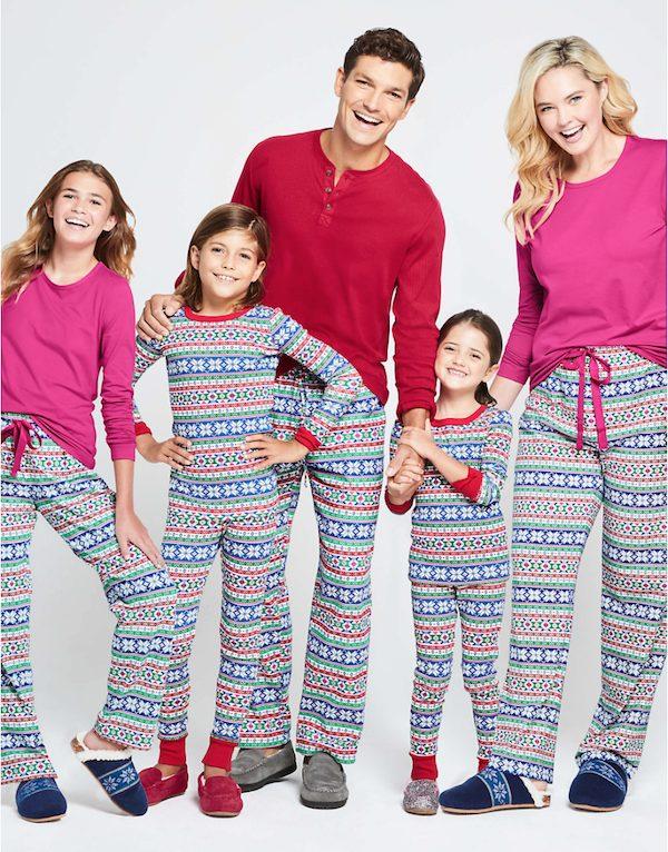 Holiday Fairisle Family Matching Flannel Pajamas